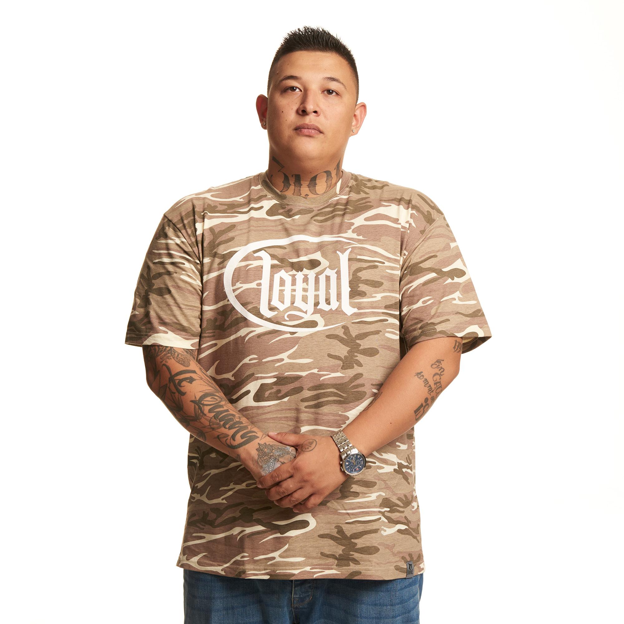 Camo Sand Logo von Kontra K - T-Shirt jetzt im Loyal Shop